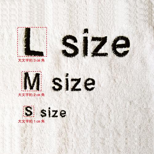 刺繍する文字の大きさ